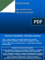 25.- Columnas intermedias y excéntricas. Fórmula de la secante