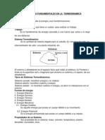 Conceptos Fundamentales en La Termodinamica