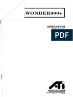 EGA Wonder 800+ Operation Manual (1st Edition, April 1989)