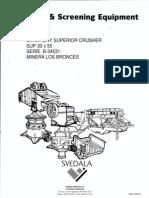 Gyratory Superior Crusher 30 x 55 Series b 34531 - Ukc006 ( Coemin )