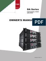 DA Series Manual