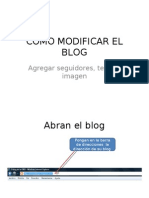 Como Modificar El Blog