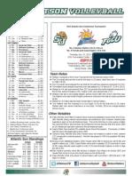 Stetson Volleyball A-Sun Tournament Match Notes (Nov. 21, 2013)