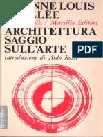 Etienne Louis Boullée - Architettura saggio sull'arte