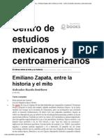 Emiliano Zapata El Heroe Entre El Mito y La Historia
