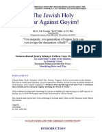 The Jewish Holy War Against Goyim