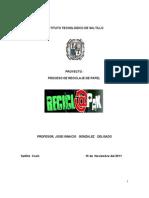 Proyecto de investigacion, Empresa de reciclaje