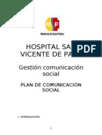 Plan de Comunicaciones- Unidad Comunciacion 2012