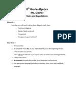 8th grade algebra - syllabus