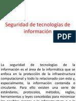 Seguridad de tecnologías de información, instrumentos de medicion.