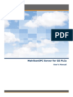 MatrikonOPC Server for GE PLCs User Manual