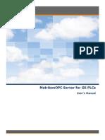MatrikonOPC Server for GE PLCs User Manual