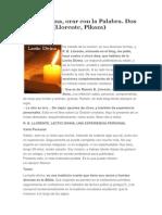 Lectio Divina, Orar Con La Palabra. Dos Versiones (Llorente, Pikaza)