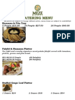 Meze Market Catering Menu 2013 PDF November 20