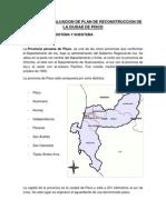 Informe de Evaluacion de Plan de Reconstruccion de La Ciudad de Pisco