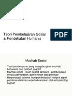 Teori Pembelajaran Sosial Dan Pendekatan Human