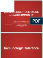 Immunologic Tolerance and Autoimmunity