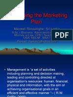Developing the Marketing Plan