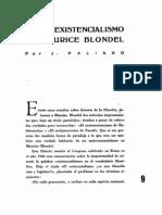 El Antiexistencialismo de Maurice Blondel - Paliard