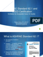 ASHRAE Standard 62 and LEED Certification