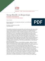 Bataille y la heterología