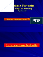 Concept 1- Leadership & Management in Nursing