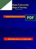 Concept 1- Leadership & Management in Nursing