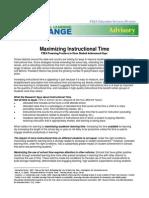 MaximizingInstructionalTime Advisory