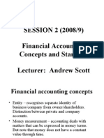 SESSION 2 (2008/9) Financial Accounting Concepts and Standards Lecturer