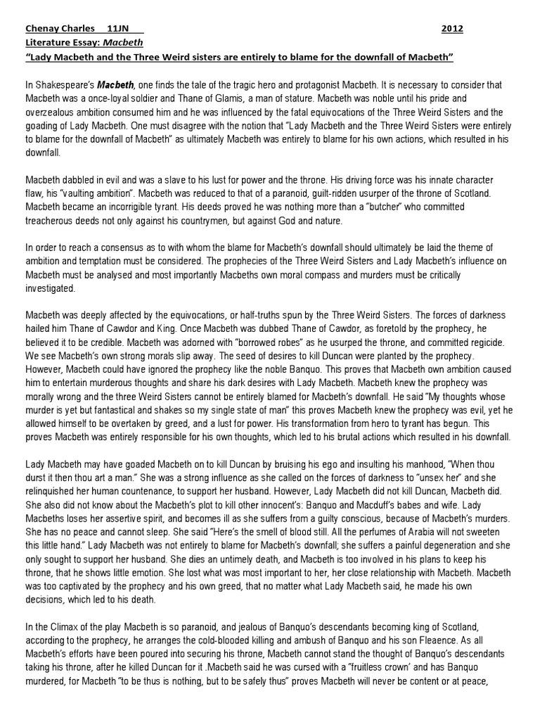 Health Essays  How To Write A Good English Essay also How To Write An Application Essay For High School Macbeth Literature Essay  Macbeth  Shakespearean Tragedies Essay Com In English