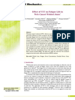 Paper - Effect of Uit on Fatigue Life in Web-gusset Welded Joints