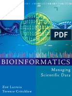 Bioinformatics - Managing Scientific Data