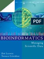 Bioinformatics - Managing Scientific Data