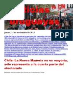 Noticias Uruguayas Jueves 21 de Noviembre Del 2013