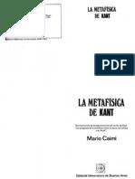 Mario Caimi La Metafisica de Kant EUDEBA OCR