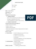 Clasa a via Projet Didactique Pag 1