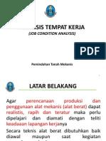 Pemindahan Tanah Mekanis (Materi 1) Analisis Tempat Kerja