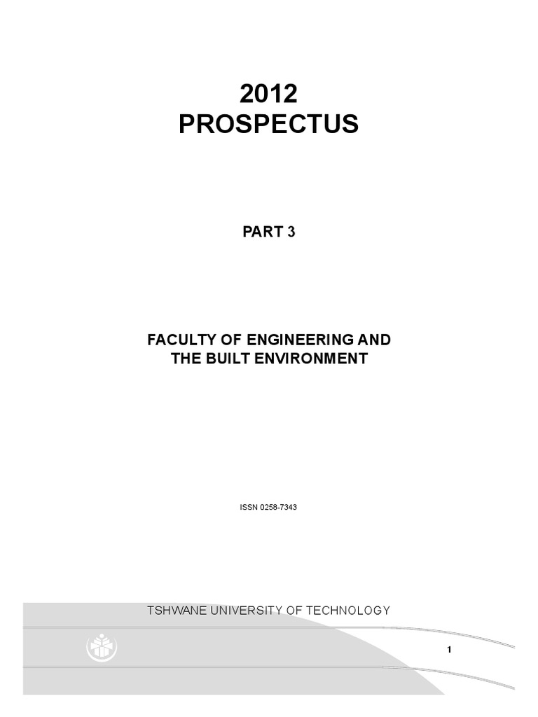 part 3 engineering and the built environment university and