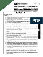 JPT 2 Classroom JEE Adv 26-05-2013 P 1 C 0 English