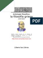 Gaos, José - Antología Filosófica - La Filosofia Griega