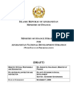 MINISTRY OF FINANCE STRATEGY FOR AFGHANISTAN NATIONAL DEVELOPMENT STRATEGY