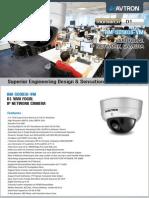 Avtron Vari Focal IP Network Dome Camera Am Sd9016 Vm