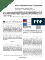 Optimization of 2DEG InAsGaSb Hall Sensors for Single Particle Detection