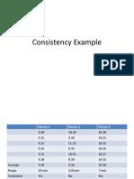 Consistency Example