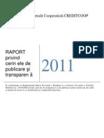 Raport Credit coop banca 2011
