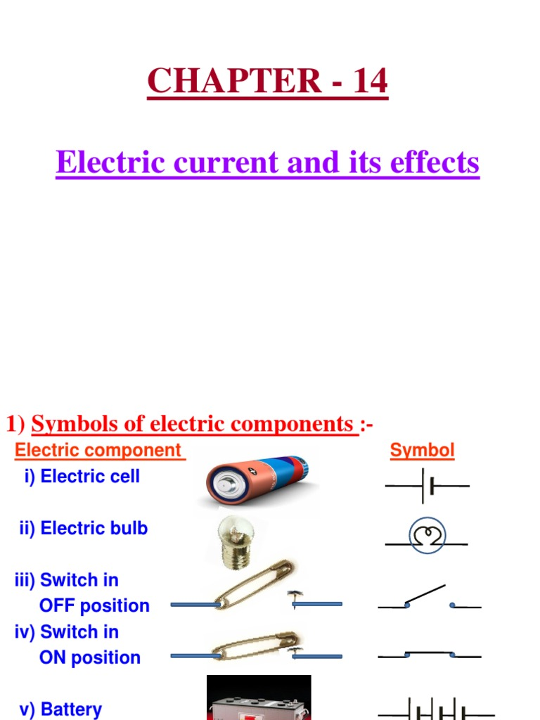 14 Electric Current And Its Effects Electric Current Battery