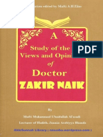A Study of the Views Zakir Naik by Mufti Muhammad Ubaidullah