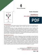 """Paolo Giannini - """"Kantharos. Alle origini del Sacro Graal"""""""