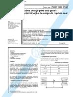 NBR 03108 - 1998 - Cabos de Aco Para Uso Geral - Determinacao Da Carga de Ruptura Real