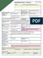 Netherhall Risk Assessment Form 3